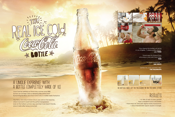 Coca-Cola создала бутылку из льда.