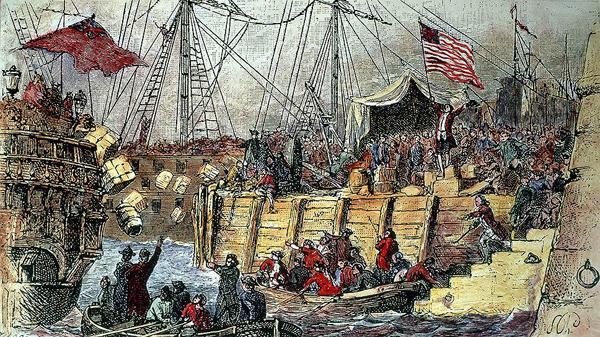 Одним из самых громких PR-ивентов Нового света стало Бостонское чаепитие.