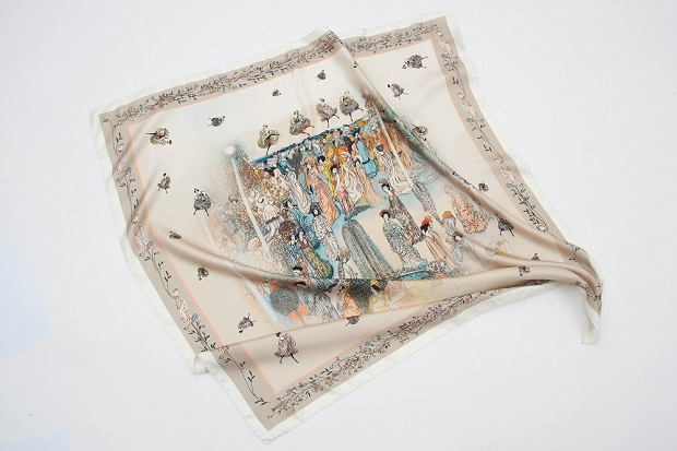 Платок «Кафешантан» по мотивам картины Георгия Якулова.