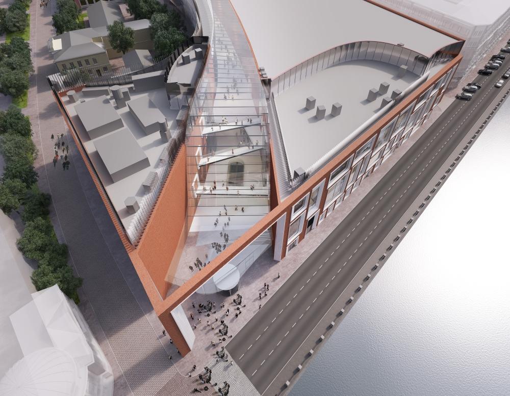 Проект нового здания Третьяковской галереи.