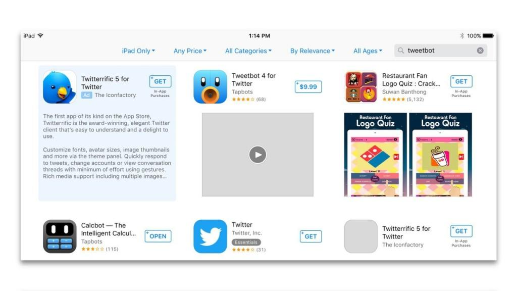 Apple запустила программу Search Ads для продажи рекламы в поиске по App Store.