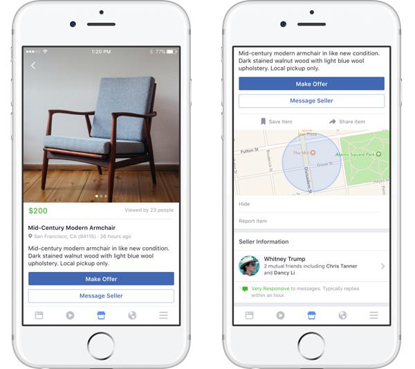 Фейсбук Marketplace будет конкурентом Avito