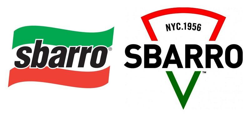Редизайн Sbarro в 2015 году.