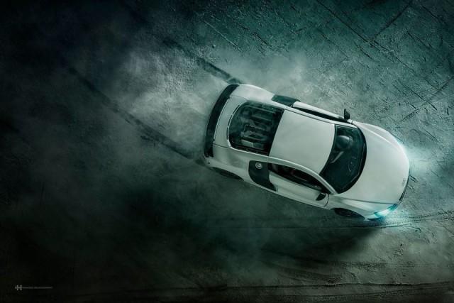 Миниатюрная реклама Audi R8.