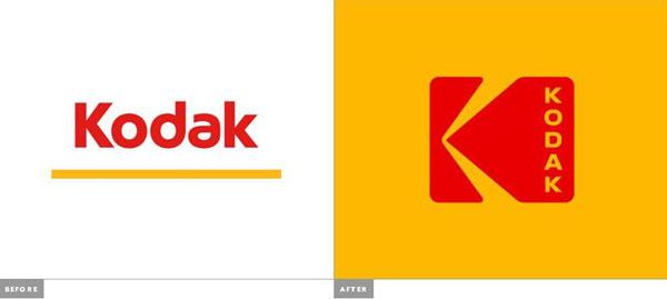 kodak изменил лого�ип � о���лкой в 70е П�о дизайн