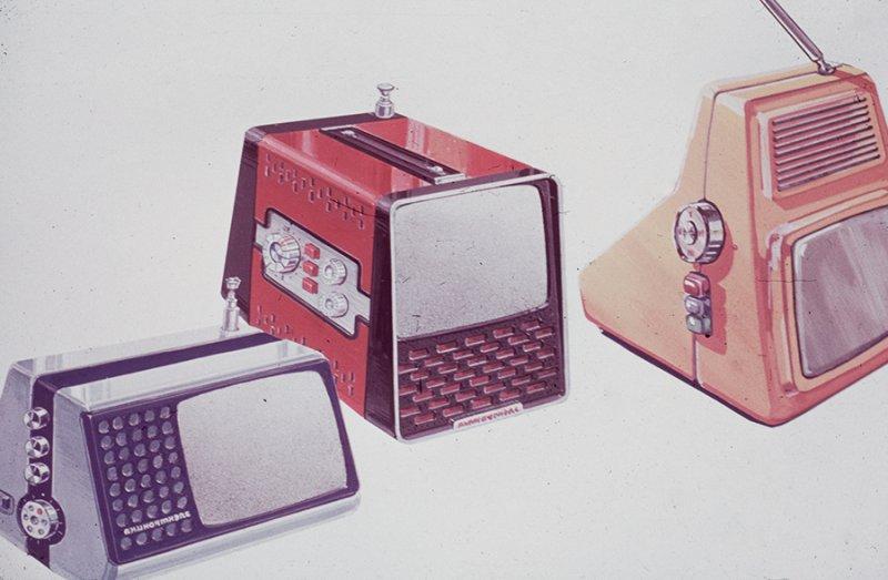 Портативные телевизоры. 1980-е.