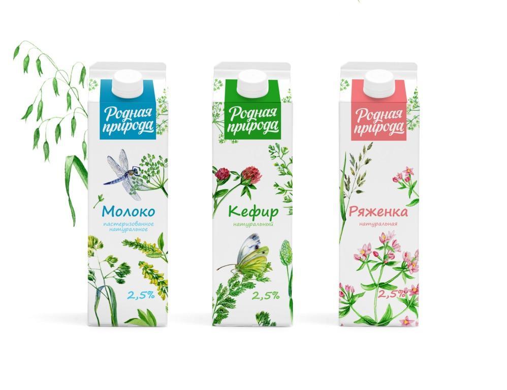 Родная природа для молочных продуктов.
