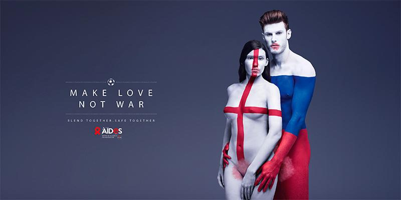 «Make love not war», TBWA.