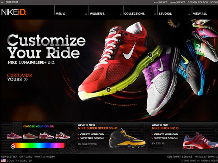 Nike предложила своим клиентам создать собственный дизайн кроссовок.