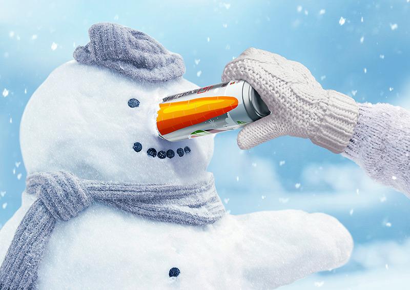 Лимитированная серия кваса «Очаковский» Winter LE с «сезонным» дизайном.