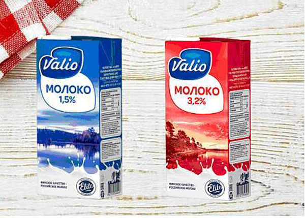 Valio представил новый дизайн упаковок молока.