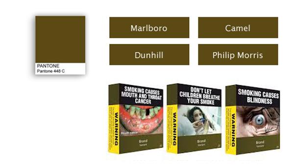 Пачки сигарет в России приобретут новый дизайн неприятного цвета.