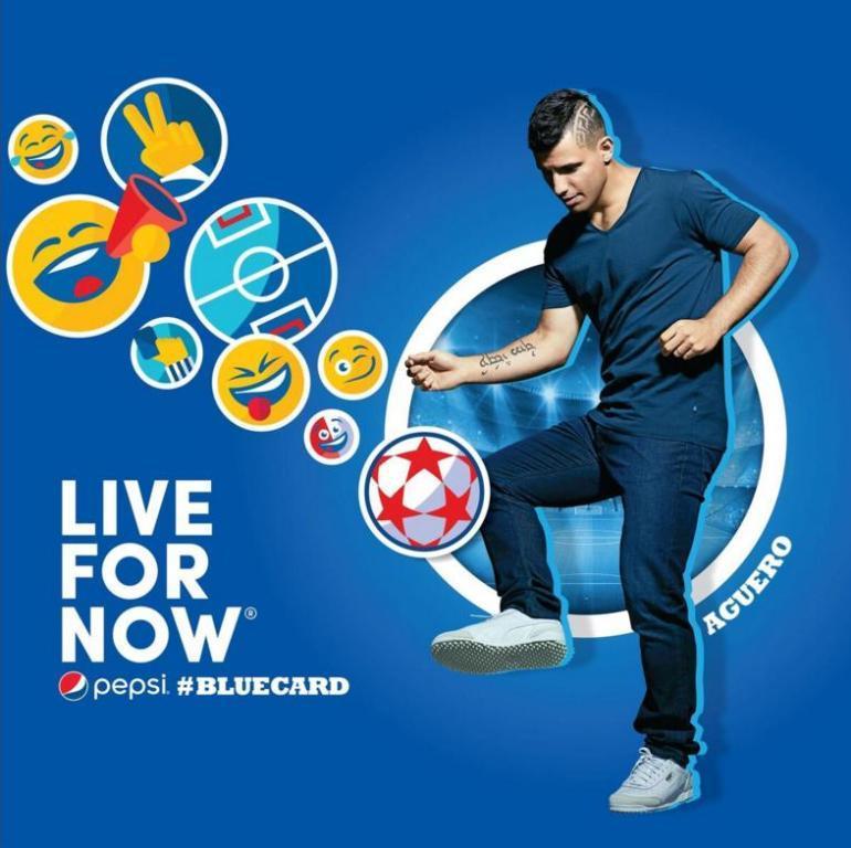 Футбольная команда Pepsi вводит в игру «Синюю карточку».
