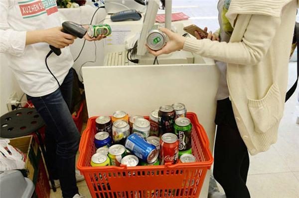 В Шанхае открылся супермаркет упаковок.