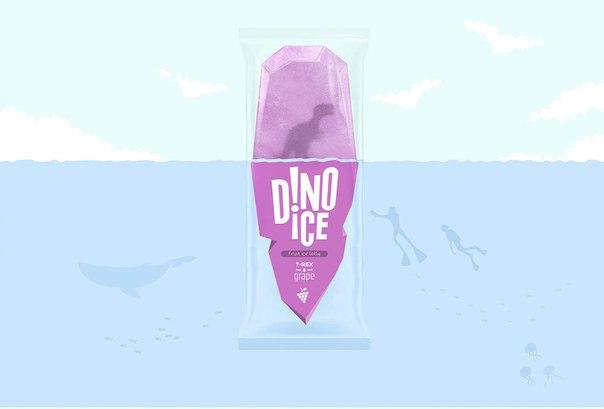 Концепт упаковки для фруктового льда.
