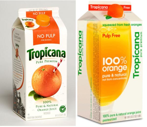 Редизайн сока Tropicana 2009 года.