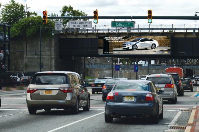 Персонализированный рекламный щит в Нью-Джерси.