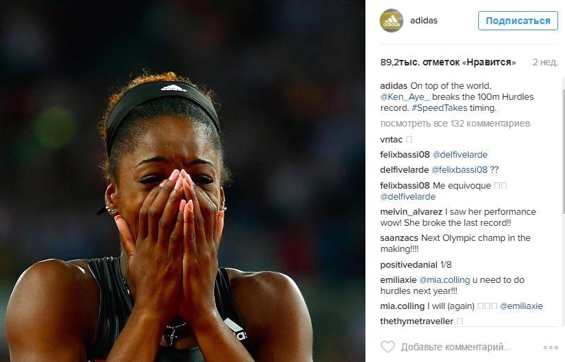 Adidas поделились радостью девушки, побившей рекорд по забегу на 100 метров.