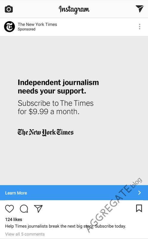 Реклама New York Times