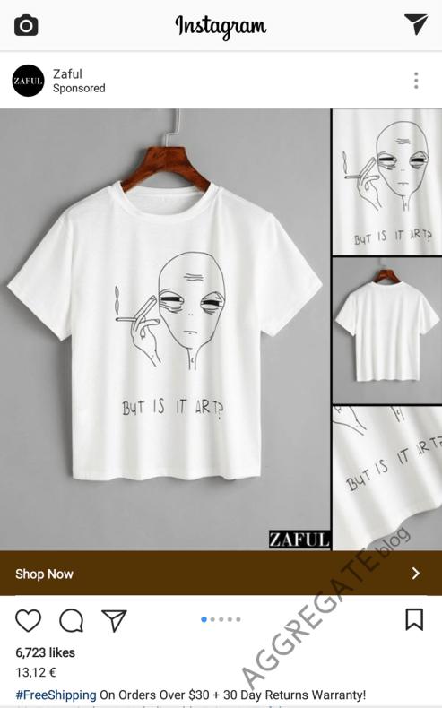 Объявление Zaful