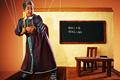 "Печатная реклама ""Teacher""  Агентство: McCann Erickson Bangalore  Рекламодатель: Ranga Shankara  Бренд: Ranga Shankara"