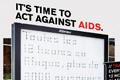 "Наружная реклама ""Time To Act Against AIDS""  Агентство: BETC Euro RSCG  Рекламодатель: AIDS Awareness  Бренд: AIDS awareness"