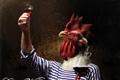 """Печатная реклама """"Coq au Vin rouge""""  Агентство: Fabrika  Рекламодатель: Le Cornichon  Бренд: Le Cornichon"""