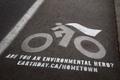 "Наружная реклама ""Bike Cape""  Агентство: DDB Toronto  Рекламодатель: Earth Day Canada  Бренд: Earth Day Canada"