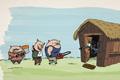 "Печатная реклама ""Three Little Pigs""  Агентство: Art&C Comunicação  Рекламодатель: Novo Jornal  Бренд: Novo Jornal"