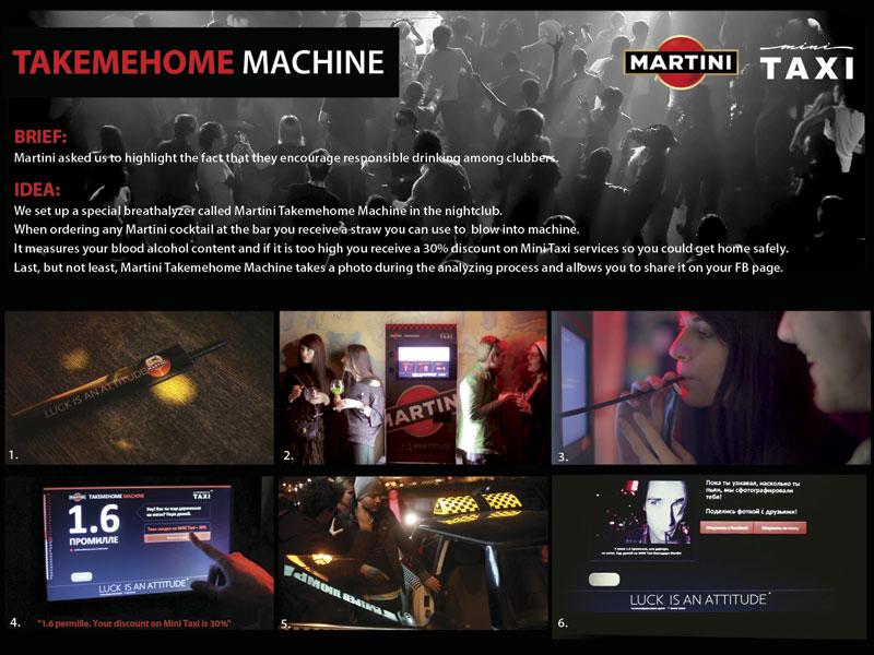 "Медиа-проект ""TAKEMEHOME MACHINE"", бренд: Безопасность дорожного движения, агентство: Friends Moscow"