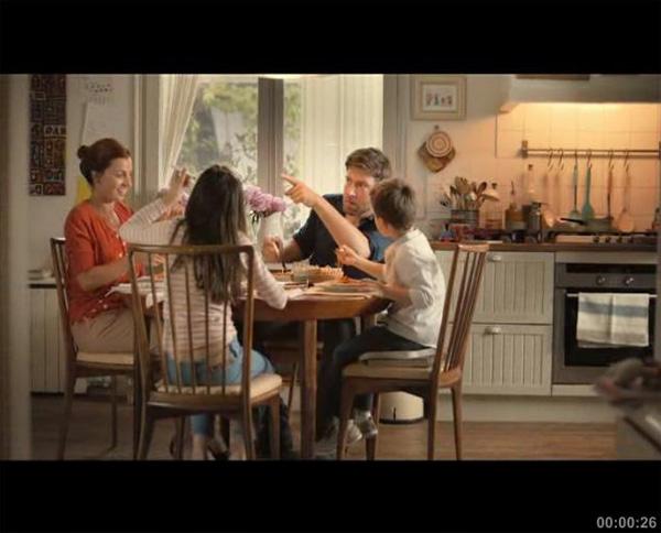 "Телереклама ""Семейный ужин"", бренд: Barilla, агентство: Young & Rubicam Moscow"