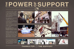 "Наружная реклама ""The power of support""  Агентство: Восход  Рекламодатель: Znak.com  Бренд: Znak.com"