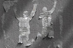 """Наружная реклама """"Стены""""  Агентство: Коммуникационная группа ЛБЛ  Бренд: Клейкая масса Блю Тэк  VI Международный Фестиваль Маркетинга и Рекламы """"Белый Квадрат"""", 2014 1 место (Наружная реклама (Товары для дома и офиса, отделочные материалы))"""