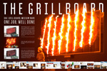 "Наружная реклама ""The Grillboard""  Агентство: Восход  Бренд: Double Grill and Bar  VI Международный Фестиваль Маркетинга и Рекламы ""Белый Квадрат"", 2014 1 место (Наружная реклама (ambient-принт))"