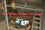 """Нестандартная реклама """"Ads that make me mad""""  Агентство: Banda agency  Рекламодатель: Киевский Международный Фестиваль Рекламы"""