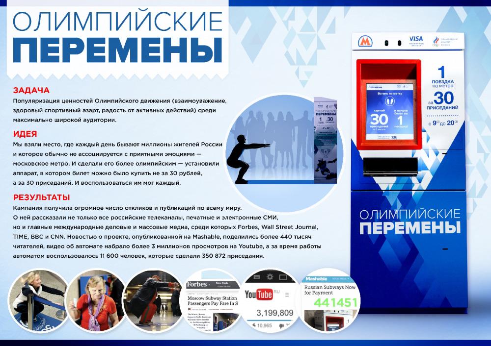"""Медиа-проект """"Олимпийские перемены"""", бренд: Ценности Олимпийского движения, агентство: MOST Creative Club"""