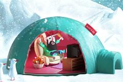"Печатная реклама ""Lunch Bag keeps temperature in North Pole""  Агентство: Provid"