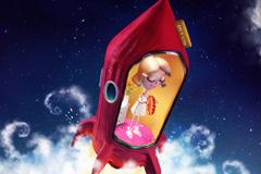 """Печатная реклама """"Lunch Bag airtight in Space""""  Агентство: Provid"""