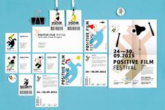 """Фирменный стиль """"Positive Film Festival""""  Агентство: Saatchi & Saatchi Ukraine  Рекламодатель: Positive Film Festival"""